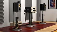15 Stylish Speaker Stands Ideas for Modern Designs – My Life Spot Home Music Rooms, Home Theater Rooms, Sound Speaker, Audio Sound, Hifi Audio, Audio Speakers, Audiophile Music, Sound Room, High End Hifi