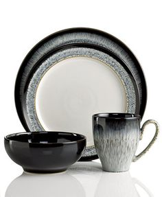 Denby Monsoon Lucille Silver Dinnerware Collection ...