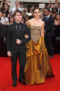 Daniel Radcliffe and Emma Watson at Harry Potter and the Deathly Hallows - Part 2: NY Premiere.