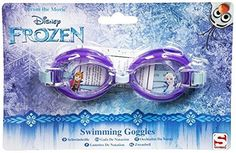 DISNEY FROZEN SWIMMING GOGGLES BLUE BAND PURPLE FRONT WATER SPORTS KIDS