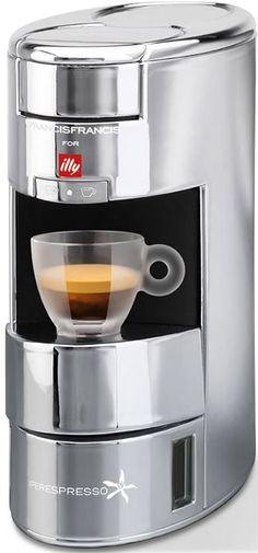 Francis Francis X9 Iperespresso Illy X9 Iperespresso: Functionele machine voor lekkere koffie De compacte Illy X9 Iperespresso is een fijne machine voor een kleine keuken. Het functionele design biedt iedere koffiedrinken de gewenste sterkte qua koffie. En doordat de machine werkt met Iperespresso capsules zit je nooit te klungelen met bonen of filterkoffie. Een makkelijke machine dus voor heerlijke koffie dat is de X9 Iperespresso! Volautomatische espressomachine Koffiespecialiteit…