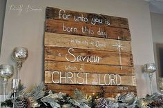 christmas mantle pallet sign, christmas decorations, pallet, seasonal holiday decor