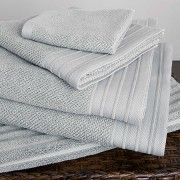 Bemboka Jacquard Towels. A real little luxury - available in darker charcoal, white etc.