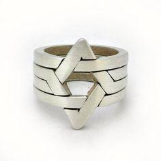 Star of David sterling silver ring  https://www.etsy.com/listing/129634737/star-of-david-puzzle-ring-sterling