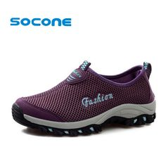 Cheap shoes woman flat, Buy Quality shoes silk directly from China womens high jump shoes Suppliers:  Socone Fashion Summer Breathable Women Sneakers Sport Shoes 2016 Outdoor Slip On Running Shoes Women Trainers sapatos f