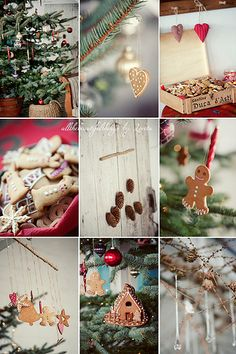 Christmas Decorations - gingerbread in the x-mas tree Christmas To Do List, Christmas Makes, Cozy Christmas, Little Christmas, Country Christmas, All Things Christmas, Christmas Holidays, Christmas Wreaths, Christmas Crafts