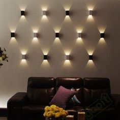 Modern LED Square Wall Lamp Hall Bar Porch Walkway Living Room Light Fixture in Home & Garden, Lamps, Lighting & Ceiling Fans, Wall Fixtures