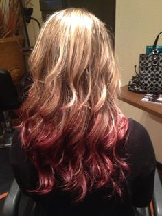 Red Reverse Ombre done by Kirsten Penny