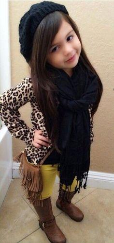 Little girl fashion.