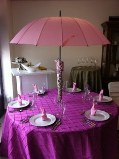 The umbrella is traditionally the symbol for bridal showers. This table displays it in an updated way.   If you'd like to learn more about the bridal shower umbrella, and how to incorporate it into your plans, please visit our page at: .http://www.bridal-shower-ideas-for-you.com/bridal-shower-umbrella.html