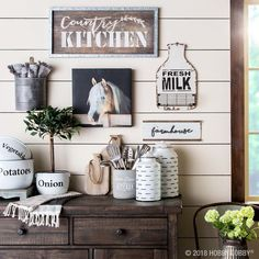 Give your space all the farmhouse feels with weathered and rustic-looking pieces from our Spring Shop™ farmhouse collection! Decor, Farmhouse Decor, Gallery Wall Decor, Country Farmhouse Decor, Home Decor, Living Room Interior, Trending Decor, Interior Design Living Room, Rustic House