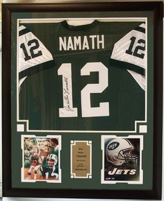 "football jersey shadow box picture frame | ... 10"" Photograph and Jersey in a 37"" x 35"" Deluxe Frame Shadow Box"