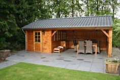47 Incredible Backyard Storage Shed Design and Decor Ideas - Backyard sheds plans Backyard Storage Sheds, Backyard Sheds, Outdoor Sheds, Shed Storage, Backyard Patio, Shed Construction, Cheap Sheds, Firewood Shed, Wooden Sheds