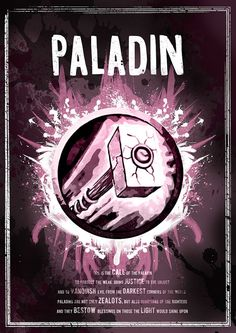 World of Warcraft: Paladin Class Symbol print/poster by SodaArcade