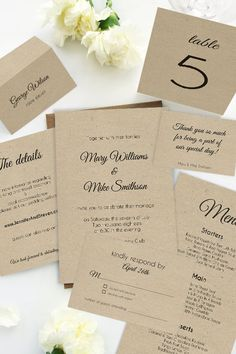 Instantly Download And Print Your Own Wedding Invitations With This - Wedding invitation templates: wedding place card size