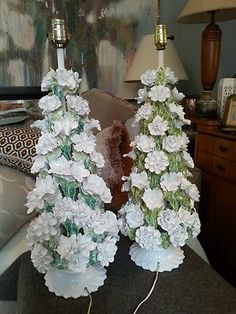 Capodimonte made in italy capodimonte pinterest price guide lamps a pair lrg italian art pottery tall heavy white floral capodimonte style tree tableprice guideitalian altavistaventures Image collections