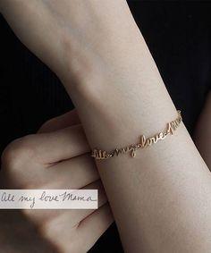 Actual Handwriting Bracelet / Signature Bracelet / Custom