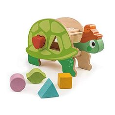 Tender Leaf Toys - Hungry Wooden Tortoise Shape Sorter Toy - Encourages Imaginative Play, Improves Recognition and Problem Solving Skills - 3 Years * Click image for more details. (This is an affiliate link)