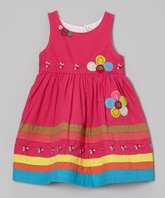 the Silly Sissy Fuchsia Flower Appliqué Dress - Infant, Toddler & Girls by the Silly Sissy #zulily #zulilyfinds