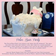 Check a sneak peek of our Party mag! Dog Birthday, 10th Birthday, Birthday Party Themes, Polar Bear Party, Polar Bears, Diy Cake, Diy Party Decorations, Showers, Birthdays