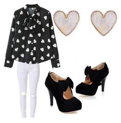 """""""Heart"""" by brittany-wilkewitz on Polyvore featuring New Look"""