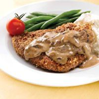 Country-Fried Steak with Mushroom Gravy by Clean Eating