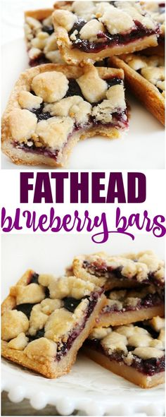 Fathead blueberry bars are an easy dessert that I bet you thought you couldn't. - Fathead blueberry bars are an easy dessert that I bet you thought you couldn't have on the low carb/ keto diet. With this dough it is possible. Keto Desserts, Brownie Desserts, Keto Snacks, Easy Desserts, Dessert Recipes, Cheesecake Recipes, Diabetic Cheesecake, Keto Sweet Snacks, Low Sugar Desserts