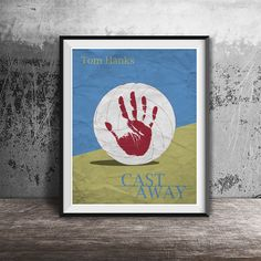 Movie poster printCast Away-the movie by OandBstudios on Etsy
