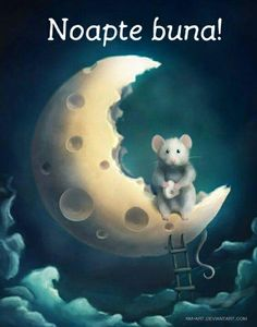 Whimsical Moon- too cute Art And Illustration, Illustrations, Fantasy Kunst, Fantasy Art, Art Fantaisiste, Art Mignon, Marjolein Bastin, Cute Mouse, Beautiful Moon