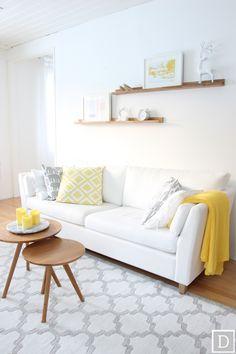 Dekottaa, kevät, keltainen, olohuone