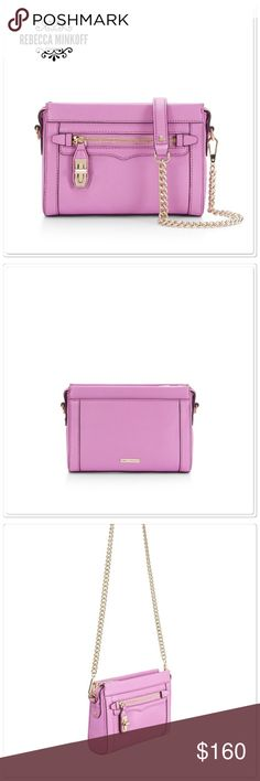 Rebecca Minkoff Crosby purse Rebecca Minkoff crossbody purse in a pretty lilac color.  Measures approx 9x6.25x2.5. Brand new with tags. Perfect for the Summer!  Rebecca Minkoff Bags Crossbody Bags