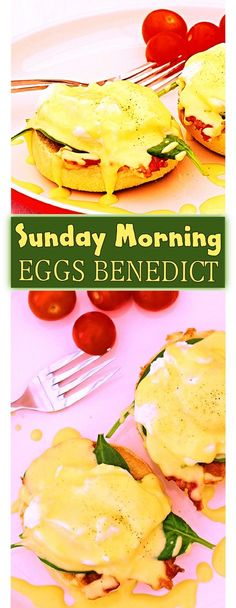 Wake up to Sunday Morning Eggs Benedict on a fluffy white English Muffin.