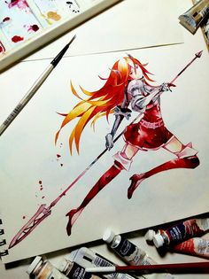 Cordelia. Watercolour on 200gsm.