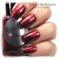 Nail Art by Belegwen: Shimmer Polish: Cindy