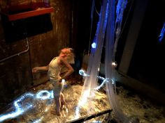Performance artist Jamee Kerroly at work on the day.