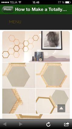 Honeycomb wall deco with washitape