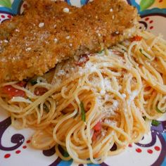 Crispy Italian Chicken Breasts with Pasta