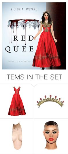 """""""Red Queen (book)"""" by awessomea ❤ liked on Polyvore featuring art"""