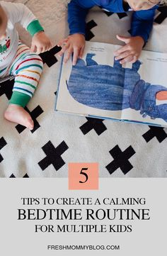 5 tips to create a calming bedtime routine for multiple kids from popular Florida lifestyle blogger Tabitha Blue of Fresh Mommy Blog