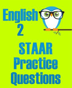 These English 2 STAAR Practice Questions will prepare your high school students for the actual English 2 STAAR exam! 10th Grade English, English Exam, High School English, Staar Test, Reading Practice, Homeschool High School, School Days, School Stuff, This Or That Questions