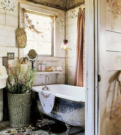 """if I had a """"forever"""" home, my garden clawfoot tub would be re-purposed for it's original calling"""