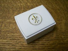 fleur de lis art deco ring box 1940s NOS on eBay!