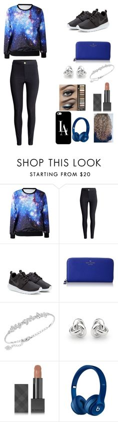 """""""Untitled #19"""" by gaellegermainlynn ❤ liked on Polyvore featuring мода, H&M, NIKE, Kate Spade, Swarovski, Georgini, Urban Decay, Burberry и Casetify"""