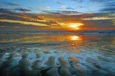Newport Oregon beach at sunset