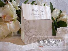 Grey flourish lolly bag