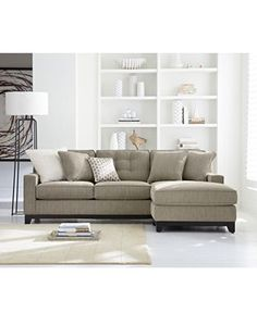 Clarke Fabric 2 Piece Sectional Queen Sleeper Sofa Bed - Furniture - Macy's