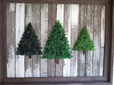 Beach Glass Framed Pine Trees by beachbumglasscottage on Etsy