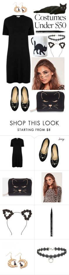 """Cat Costume"" by swimwearlover ❤ liked on Polyvore featuring Warehouse, Ted Baker, Missguided and NYX"