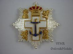 Spain - Order of Naval Merit, Cross 1st Class white (special services) (1975-1995)