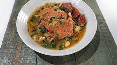 Michael Symon's Smoked Pork  with Kielbasa, Cabbage & Apple Dumplings